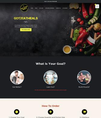full page image of woocommerce web development for meal prep and delivery company Got 2 Eat Meals